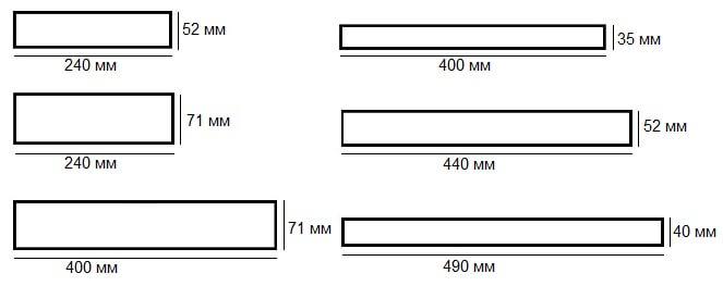 Форматы фасадной плитки Stroeher